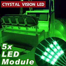 Crystal Vision Premium LED 5PCS Kit For Boat Marine Deck Interior Light (Green)