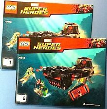 LEGO Instructions ONLY Skull Sub Attack 76048 Avengers Marvel Super Heroes NEW