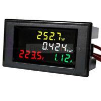 AC 200-450V 100A Digital LCD Voltmeter Ammeter Electric Energy Power Panel Meter
