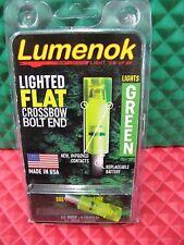 Lumenok Burt Coyote Lighted Crossbow Bolt End FLAT Green 2219F1G