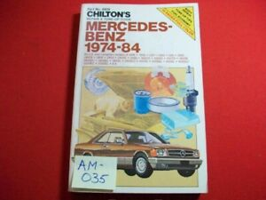 1974-84 MERCEDES BENZ- COVERS MANY MODELS, SEE LISTING - REPAIR & TUNE-UP MANUAL