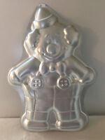 Wilton Aluminum  Clown Cake Pan Mold 2105 6711 Birthday vintage