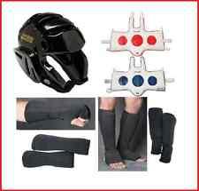 Taekwondo Sparring Gear Set Package Head Fist Forearm Shin Instep Chest Guards