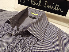 "PAUL SMITH Mens Shirt �� Size XL (CHEST 46"") �� RRP £95+ �� CHECKS WITH RUFFLES"