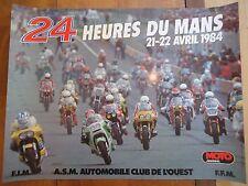 POSTER OFFICIEL ** 24 HEURES DU MANS 1984 MOTOS *  AFFICHE ACO MOTO LE MOTORBIKE