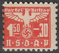 Stamp Germany Revenue WWII 1935 3rd Reich War Era Party Dues 0150.30 MNH