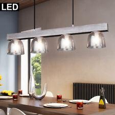 LED Pendule Luminaire de Plafond Bois Verre Ess Chambre Éclairage Suspendu Fumée