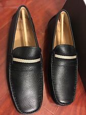 NEW BALLY WABLER BLACK CALF GRAINED LEATHER LOAFER MEN SIZE US 7 D, UK 6 E,