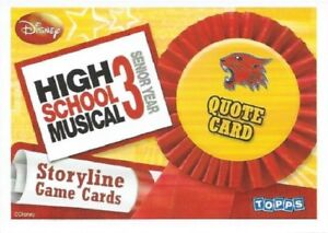 HIGH SCHOOL MUSICAL 3 STORYLINE SINGLES - QUOTE CARDS