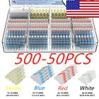 500PCS/50PCS Waterproof Heat Shrink Solder Seal Sleeve Terminals Wire Connectors