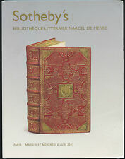 SOTHEBY'S PARIS CATALOGUE Bibliotheque Litteraire Marcel de Merre 2007 BOOK VGC