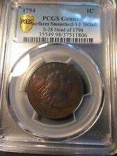 1794 LIBERTY CAP LARGE CENT >S-28< HEAD OF 1794 PCGS VF 20 >SUPER FAST SHIPPING!