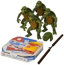 NECA Teenage Mutant Ninja Turtles TMNT 1/4 Scale Baby Turtle Set of 4