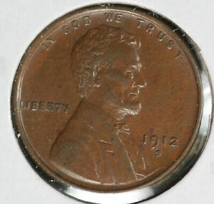 Beautiful Almost Uncirculated 1912-S Lincoln Cent!