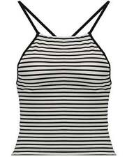 Cotton Blend Striped Sleeveless Tanks, Camis for Women