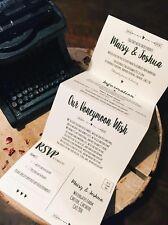 1 Rustic/Vintage/Shabby Chic 'Maisy' Wedding Invitation/card set Sample