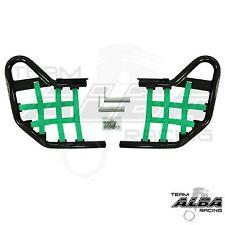 Warrior YFM 350 YFM350  Nerf Bars  Alba Racing Black bar Green nets  210-T1BG