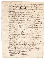 1745 Louis XV marquis manuscript letter signed and stamped AUTHENTIC
