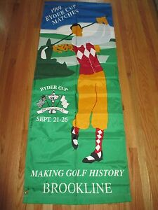 """Rare SEPT 21-26,1999 RYDER CUP The Country Club BROOKLINE 72"""" x 27"""" Nylon Banner"""