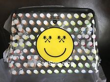 NWT Victoria's Secret PINK Smiley Pouch Beauty Bag Travel Case Limited Edition