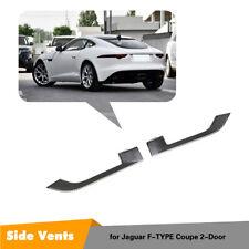 2PCS Carbon Fiber Side Fender Vent Grill Trim For Jaguar F-TYPE 2013-2019 Refit