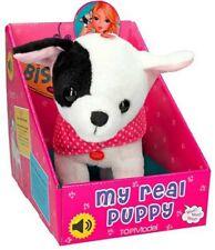 Bull Terrier Plush Soft Toy Dog Bisou Cuddling Fur Animal Real Puppy Sound 23cm