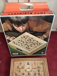 Rarität: großes Brio Labyrinth Spiel Labyrinthspiel Kugelspiel Holz Vintage TOP