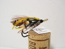 Vintage Antique Salmon Gut Eye Fly Japanned Hook  Size 5 - Double
