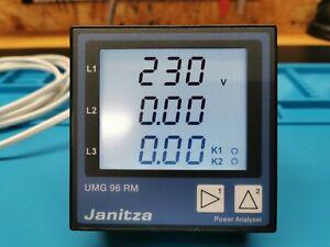 Janitza UMG 96 RM -CBM Power Analyser Netzanalysator Messgerät