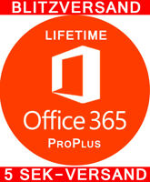 Office 365 = 2016 ProPlus Account Lizenz A1 Vollversion 5 PC / Mac LIFETIME