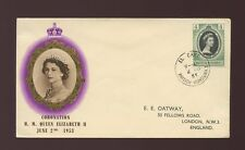 BRITISH HONDURAS EL CAYO 1953 CORONATION FIRST DAY COVER ILLUSTRATED ENVELOPE