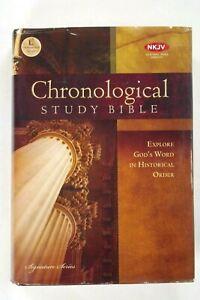 Chronological Study Bible, NKJV, 2008 Thomas Nelson, HC w/DJ, VGC