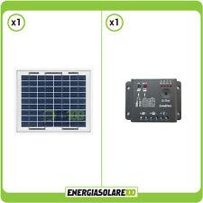 Kit Starter Solare 5W 12V pannello NX + regolatore 5A giardino camper nautica