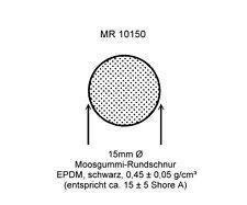 40mm Ø ab 1m Moosgummidichtung Rundschnur - Schwarz - MR 10400 - EPDM