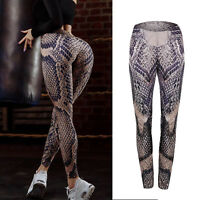 Womens Yoga Leggings Fitness Sports Gym Exercise Running Jogger Pants Trousers
