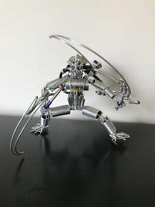 Metal Wire Predator Sculpture