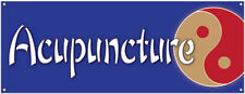 Acupuncture Banner Chinese Health Back Pain Sign 36x96