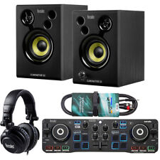 Hercules DJ Starter Kit 2-Deck USB DJ-Controller Set + keepdrum Audio-Kabel