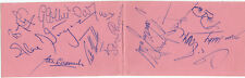 NOTTINGHAM FOREST 1960's - Signed Album Page by 12 Players - SPORT - FOOTBALL