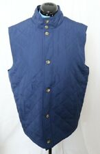 Martin Navy Blue Button-Up Polyester Quilted Active Golf Vest Men's L