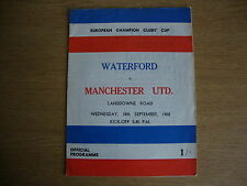 1968/9 Waterford v Manchester United - European Cup