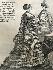 MODE ILLUSTREE SEWING PATTERN Jan 3,1869 - DOLL outfits patterns