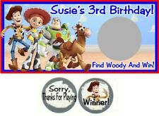 10 Toy Story Birthday Party Scratch Off Game Cards Tickets Buzz Woody Jessie