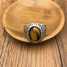 Vintage Men's Woman 316L Stainless Steel Vogue Design Mini Stone Ring Size 9 NEW