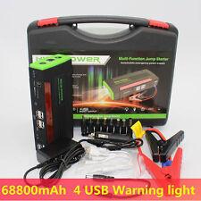 68800mAh Portable Power Bank 4USB Car Jump Starter Vehicle Mini Booster Charger