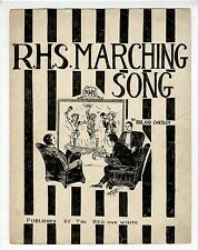 NH PUBLISHED Sheet Music R H S March Song ROCHESTER High School