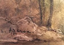 """Louis Noël AGERON """" Paysage"""" - Aquarelle - v394"""