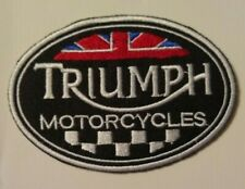 """Triumph Motorcycle Biker British Embroidered Patch~3 1/4"""" x 2 1/4""""~Iron Sew On"""