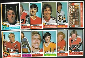 1974-75 OPC 74-75 O PEE CHEE NHL HOCKEY CARD 265-396 & TEAM CHECKLIST SEE LIST