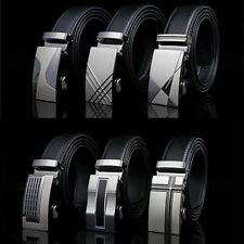 Men's Luxury Automatic Buckle Leather Belt Waist Waistband Buckle Belt S9J8
